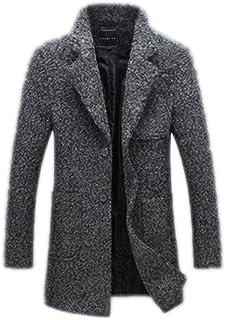 Long Trench Coat Men's Winter Men's Coat Thick Wool Coat Pea Windbreaker Male Coat
