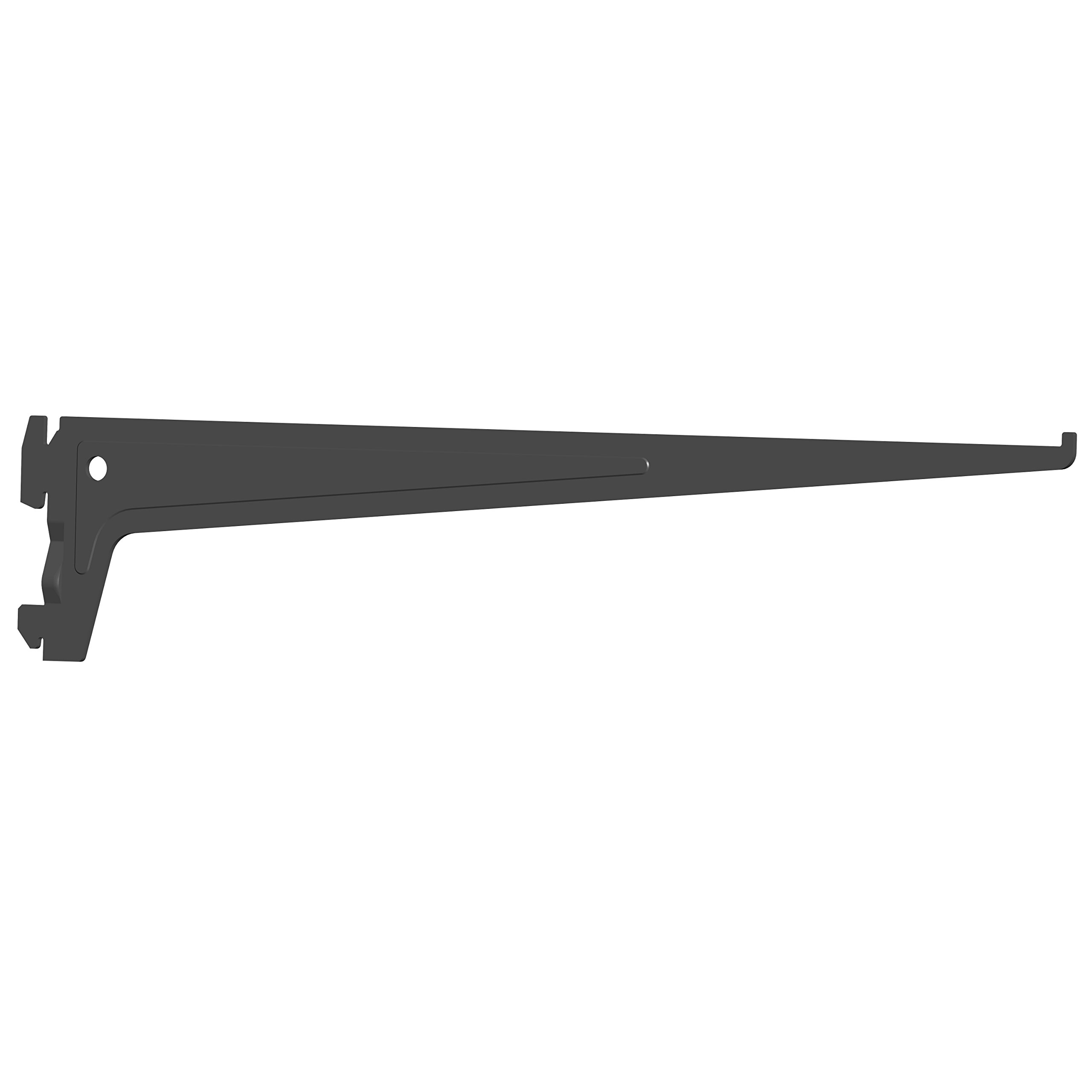 Element System Pro-Support Bracket Single Row, Pack of 2, 7 cm, 3 Colours, Length 40 cm, Wall Shelf, Black, 18133–00016