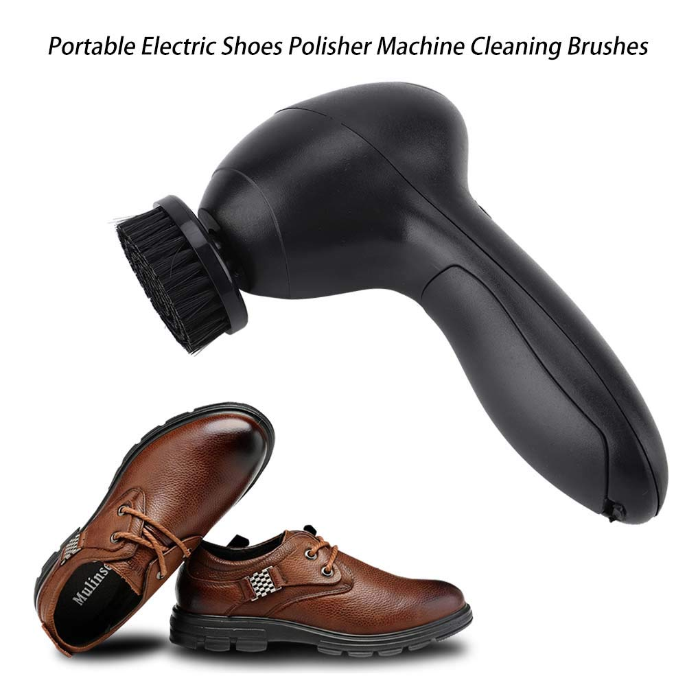Acogedor Electric Shoe Polisher, Portable Electric Shoe Polisher Machine Cleaning Brushes for Leather Bags Maintenance