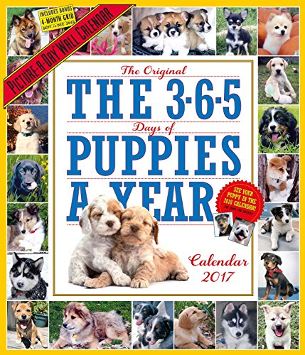 The 365 Puppies-A-Year Picture-A-Day Wall Calendar 2017 (Kitchen Themes 2017)