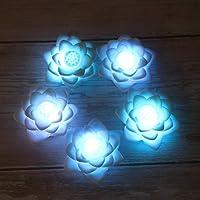 OSALADI LED lotus lanterna färgglad sjöros nattljus blomma lyktor heminredning för festival party 5 stycken