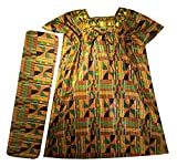 Decoraapparel Womens African Dress Traditional Dashiki Maxi Caftan Cotton Kaftan One Size (Orange Green Wine P03 Kaftan)