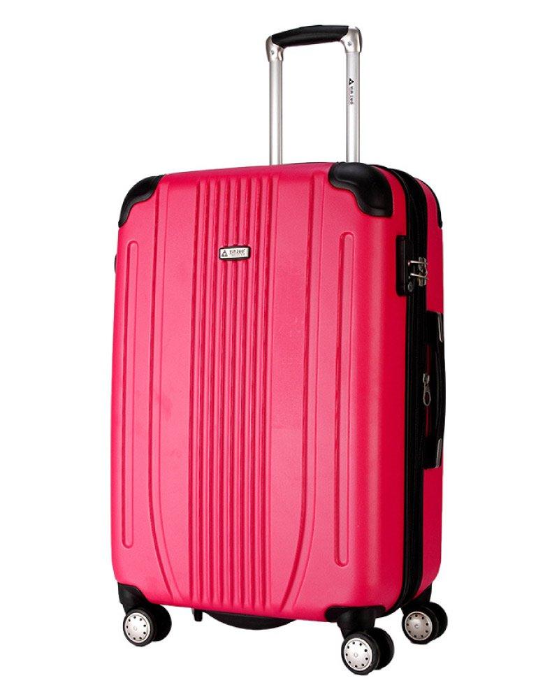 スーツケース キャリーバッグ 軽量 TSAロック Wキャスター搭載 エンボス加工 A-561 ファスナー開閉式 7色3サイズ B01ARJPCJ2 L(大)型|ローズ ローズ L(大)型