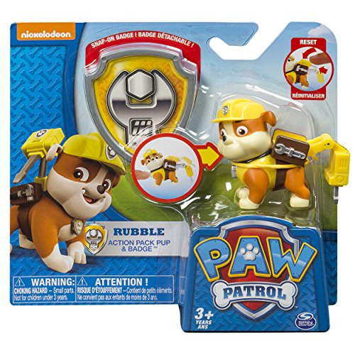 Amazon Paw Patrol Action Pack Pup Badge Rubble Toys Games