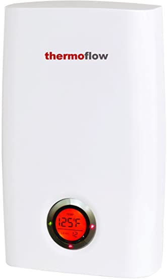 12kW Thermoflow Tankless Water Heater Electric - High Efficiency Instant Hot Water Heater Electric 12 kW, 240V - Consistent Hot Water On Demand, ...