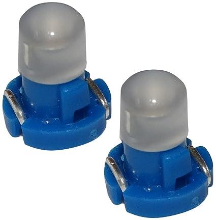AERZETIX: 2 x Bombillas T3 LED 12V de salpicadero luz azul