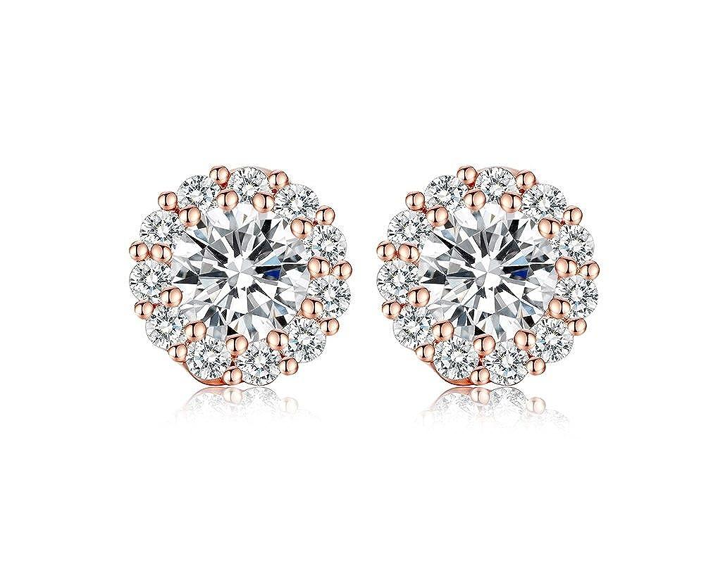 55104193387a Amazon.com  Aretes De Oro Para Mujer 14 k Pendientes Joyeria de Oro 14k  Para Mujer Fina Chapados en Oro Stud Earrings Women AR0026  Jewelry