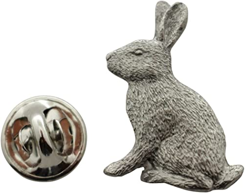 Rabbit Pin ~ Antiqued Pewter ~ Lapel Pin