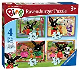 Ravensburger 6865 Bing Bunny 4 in a Box Jigsaw Puzzles - 12, 16, 20 and 24 Pieces