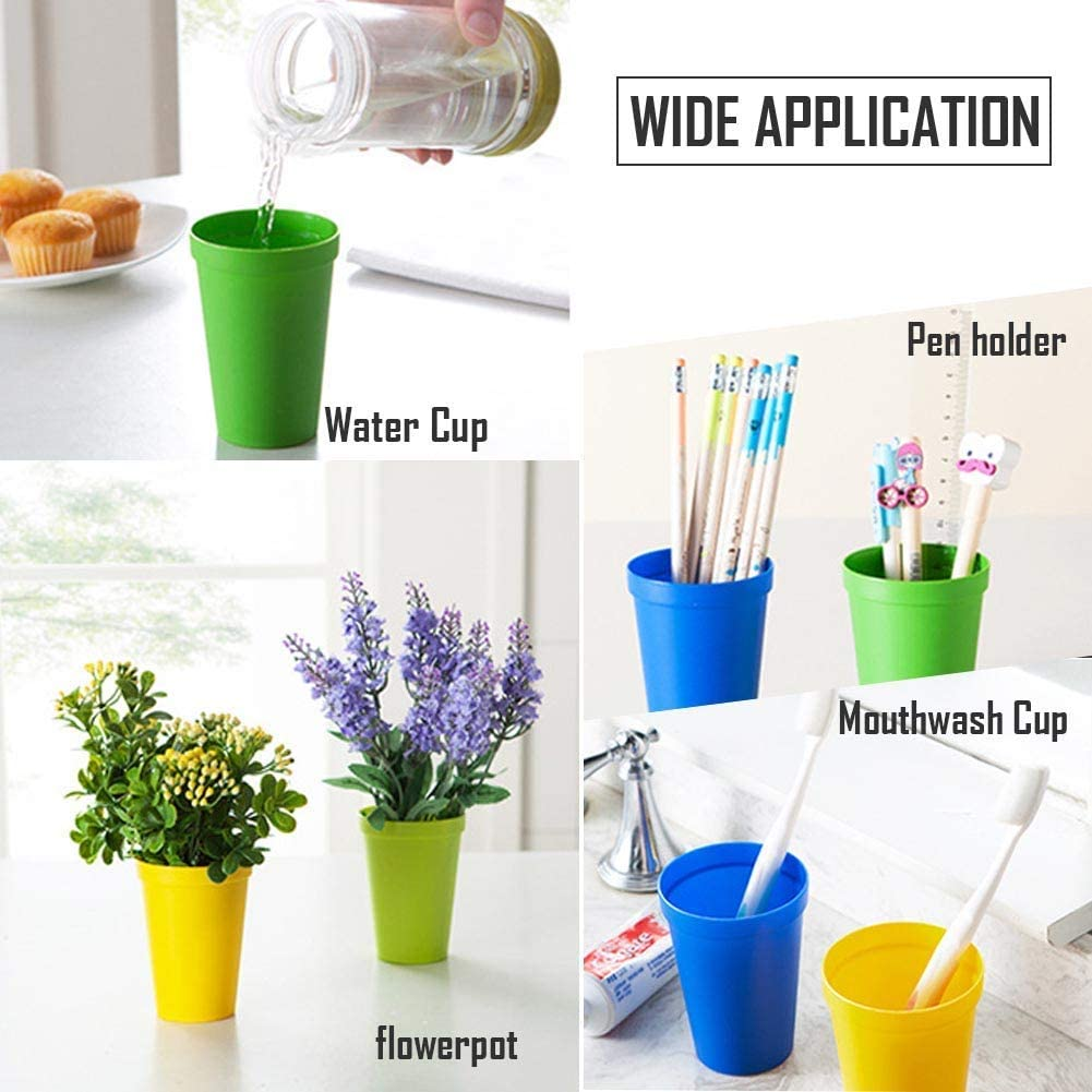 Vaso de pl/ástico Son irrompibles Vasos de Whisky Reutilizables y encajables Vasos de Fiesta Vasos de c/óctel Sin BPA LHKJ 8 pcs Vasos de Pl/ástico