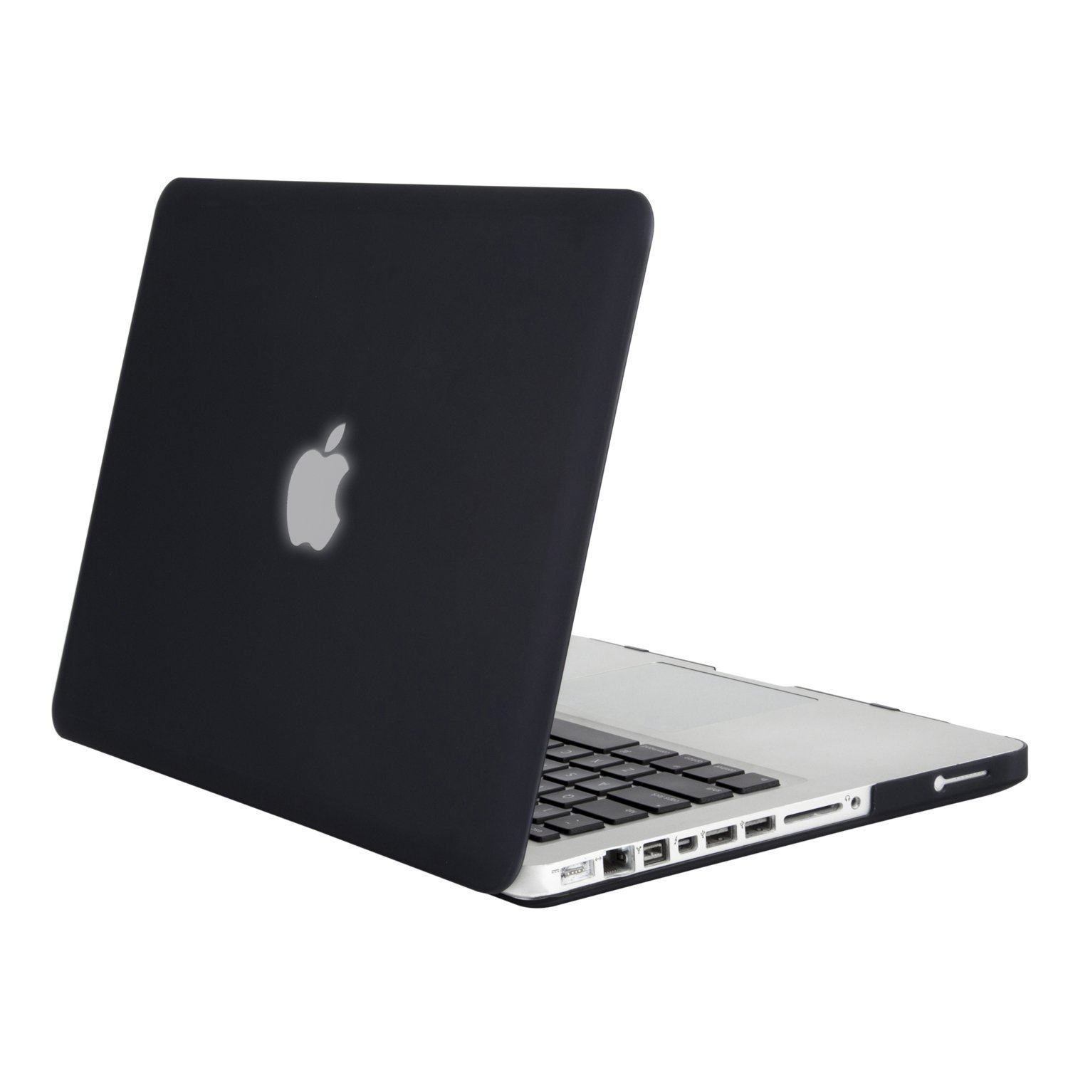 MOSISO Plastic Hard Shell Case Cover Only Compatible Old MacBook Pro 13 Inch (A1278, with CD-ROM), Release Early 2012/2011/2010/2009/2008, Black