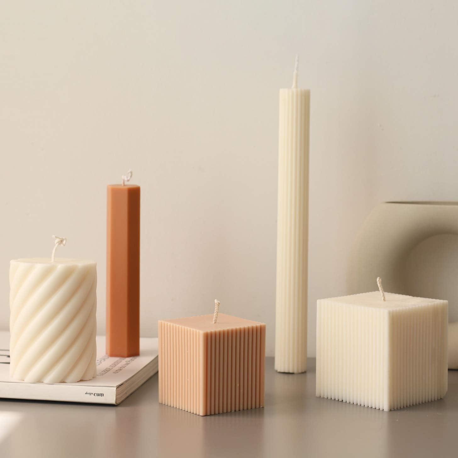 WANDIC Kerzenform W/ürfel Kerze Machen Kit Klare Plastikkerzenherstellung Liefert F/ür DIY Kerzen Machen