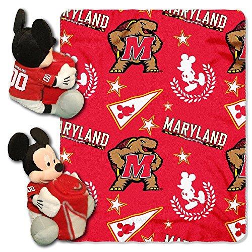 NCAA Maryland Terrapins Co-Branded Disney's Mickey Hugger and Fleece Throw - Maryland Terrapins Plush Ncaa