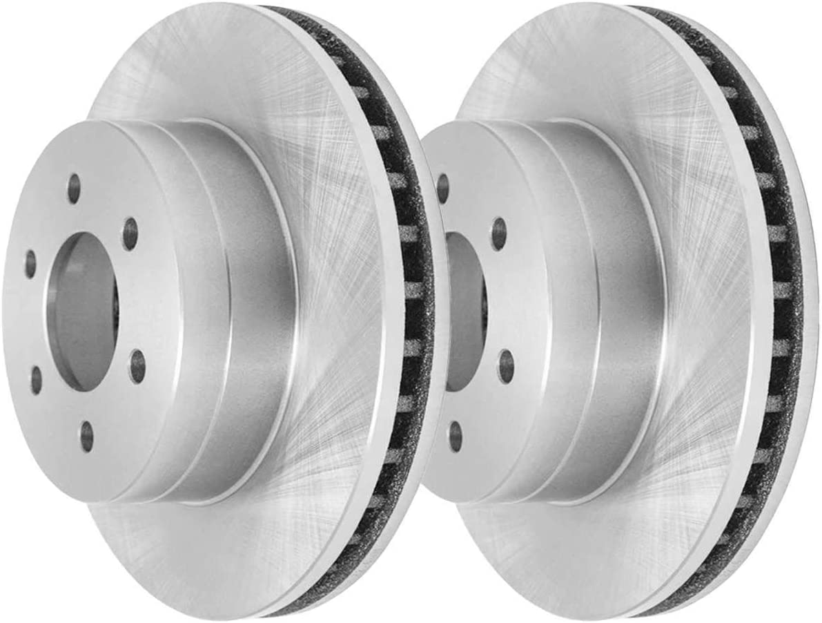 AutoShack R6384PR Front Brake Rotor Pair 2 Pieces Fits Driver and Passenger Side