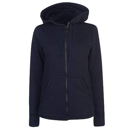 ADIDAS Damen Essentials Linear Full Zip Hooded Kapuzen-Jacke, Legend  Ink White, 1dd4d1d005