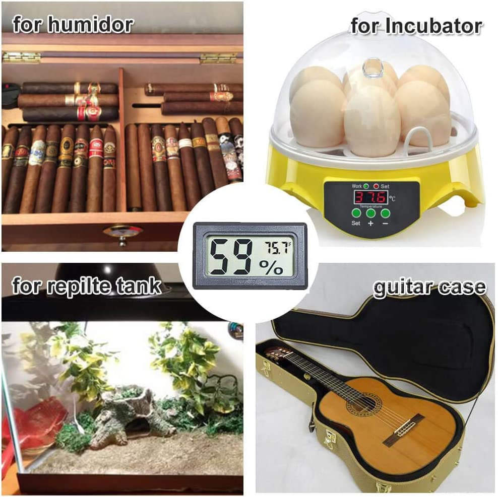 ℉ Goabroa 12 Pack Mini Hygrometer Thermometer Digital Indoor Humidity Gauge Monitor with Temperature Meter Sensor Fahrenheit