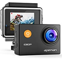 APEMAN 1080P Full HD Waterproof Action Sport Camera with 170 Degree Wide Angle and Mounting Accessory Kits