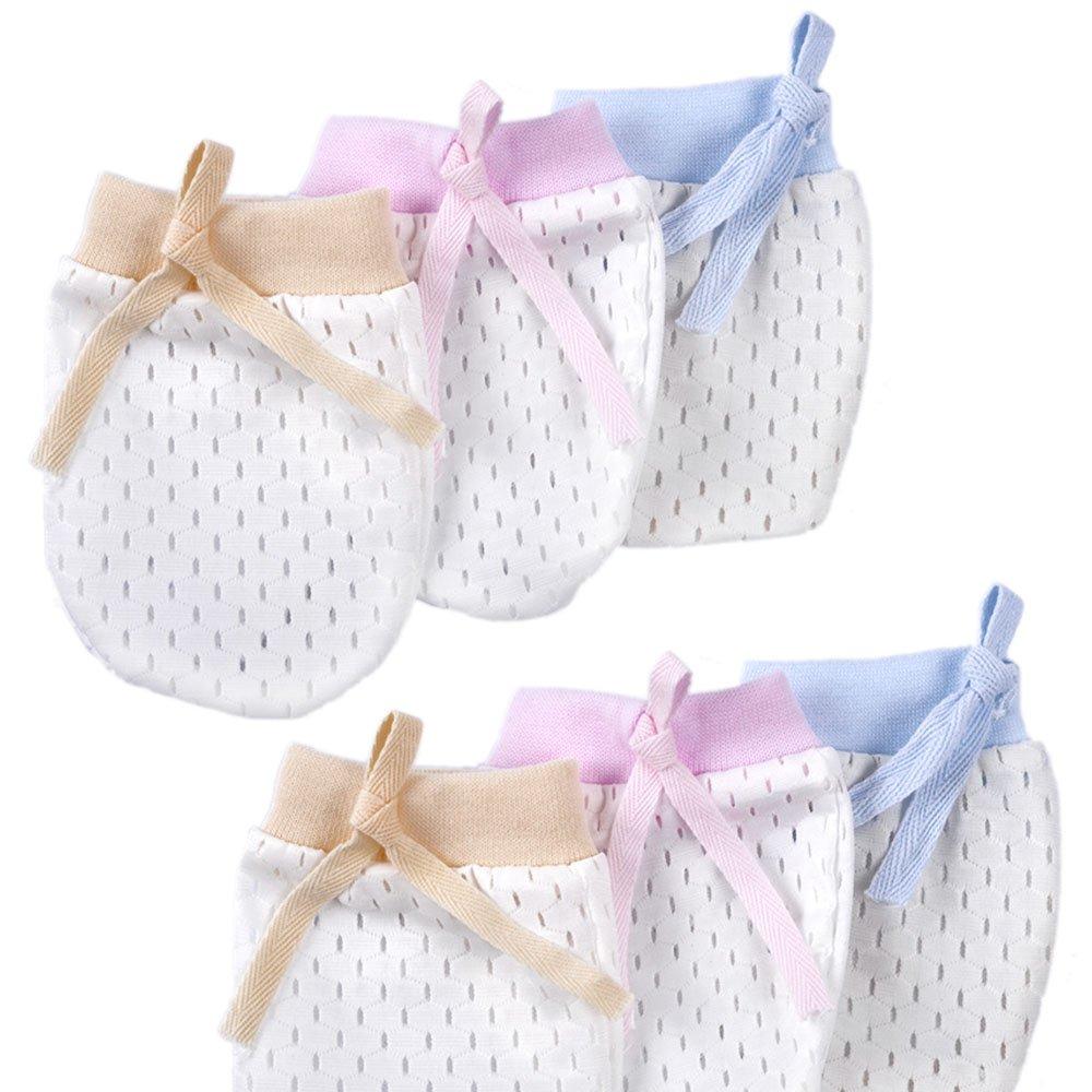 Cunina No Scratch Mittens 6-Pair Newborn Baby Gloves for 0-6 Months Baby Boys Girls