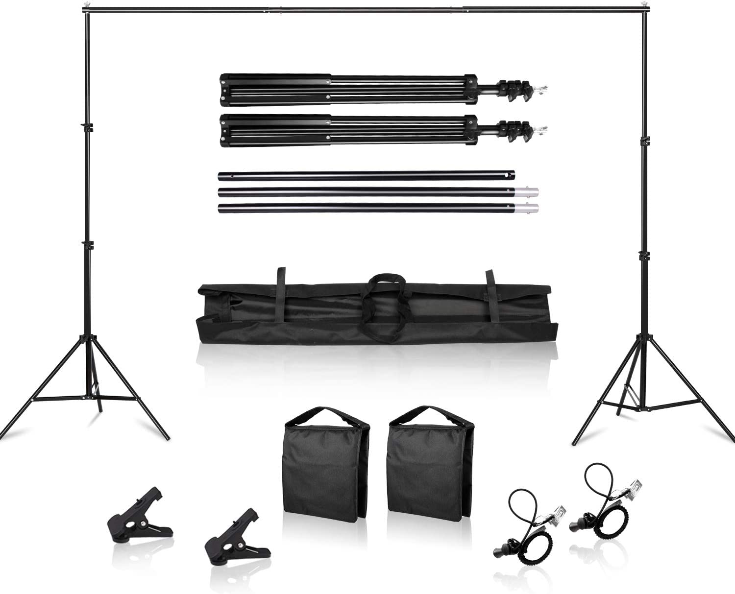 Size : L60xh70cm Background Supports Background Stand Stand System Metal for Portrait with Carrying Case,Product Photography