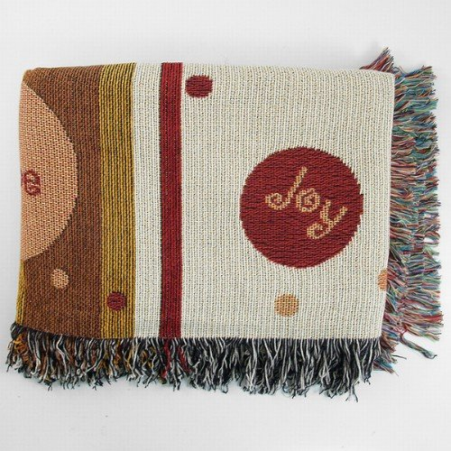 BigKitchen Hope Joy Faith Multicolor Tapestry Throw Blanket by BigKitchen