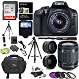 Canon EOS Rebel T6 Digital SLR Camera Kit + EF-S 18-55mm f/3.5-5.6 IS II Lens + Pro .58x & 2.2x Lenses + Sandisk 48GB Memory + 57'' Tripod + Canon 100ES Case + Polaroid Accessory Bundle
