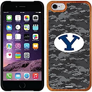 Coveroo iphone 5c Madera Wood Thinshield Case with Brigham Young Dark Camo Design