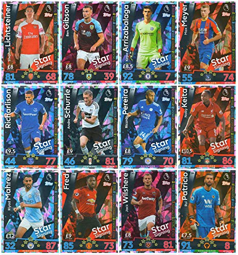 MATCH ATTAX 2018/19 FULL SET OF TWELVE (12) STAR SIGNINGS CARDS #373-384