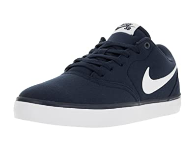 Nike Men's SB Check Solar Cnvs Midnight Navy/White Skate Shoe ( UK-9
