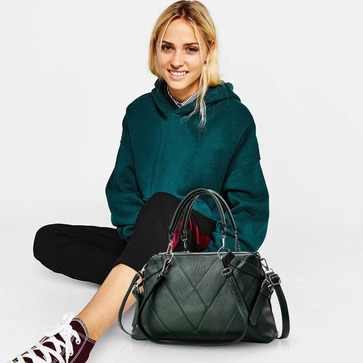 NICOLE /& DORIS Handbags for Ladies top-Handle Bags for Women Large Cross Body Bag Black