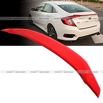For 2016-2017 Honda Civic 4-DR H-Style ABS Painted Black Rear Roof Spoiler Wing