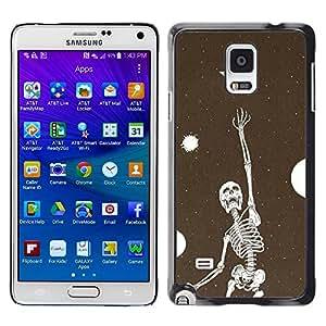 Be Good Phone Accessory // Dura Cáscara cubierta Protectora Caso Carcasa Funda de Protección para Samsung Galaxy Note 4 SM-N910 // Skeleton Bird Dreams Vignette Metal