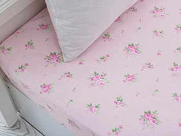 English Home Bettuch Baumwolle Rosa 240 X 160 Cm Amazon De
