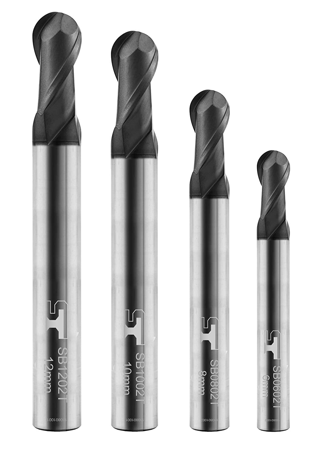 SB0602T SPEED TIGER SB Carbide Square End Mill Micro Grain Carbide End Mill for Alloy Steels//Hardened Steels 2 Flute 5 pieces, 6mm AlTiBN Coating