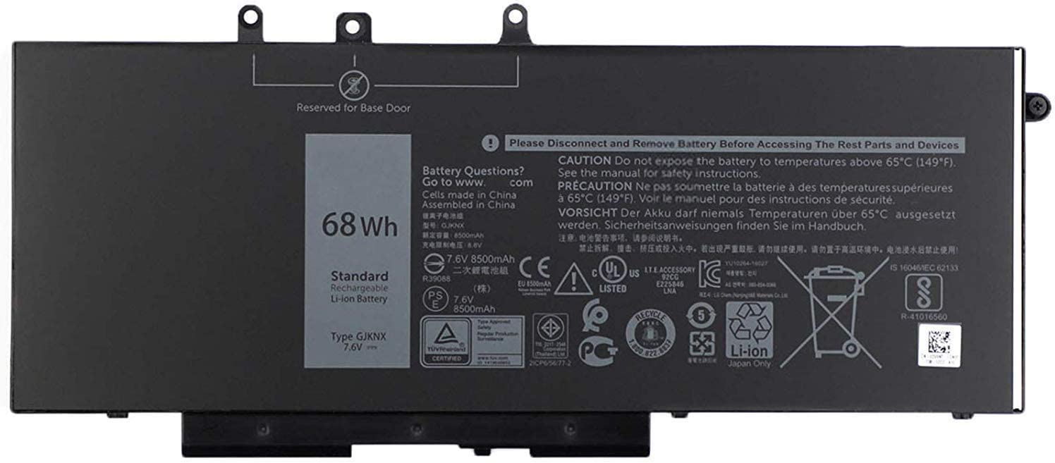 Batterymarket GJKNX Replacement Laptop Battery Compatible with Dell Precision 15 3520 Latitude E5580 E5480 E5280 E5490 E5590 Series GD1JP 0GD1JP (7.6V 68WH)