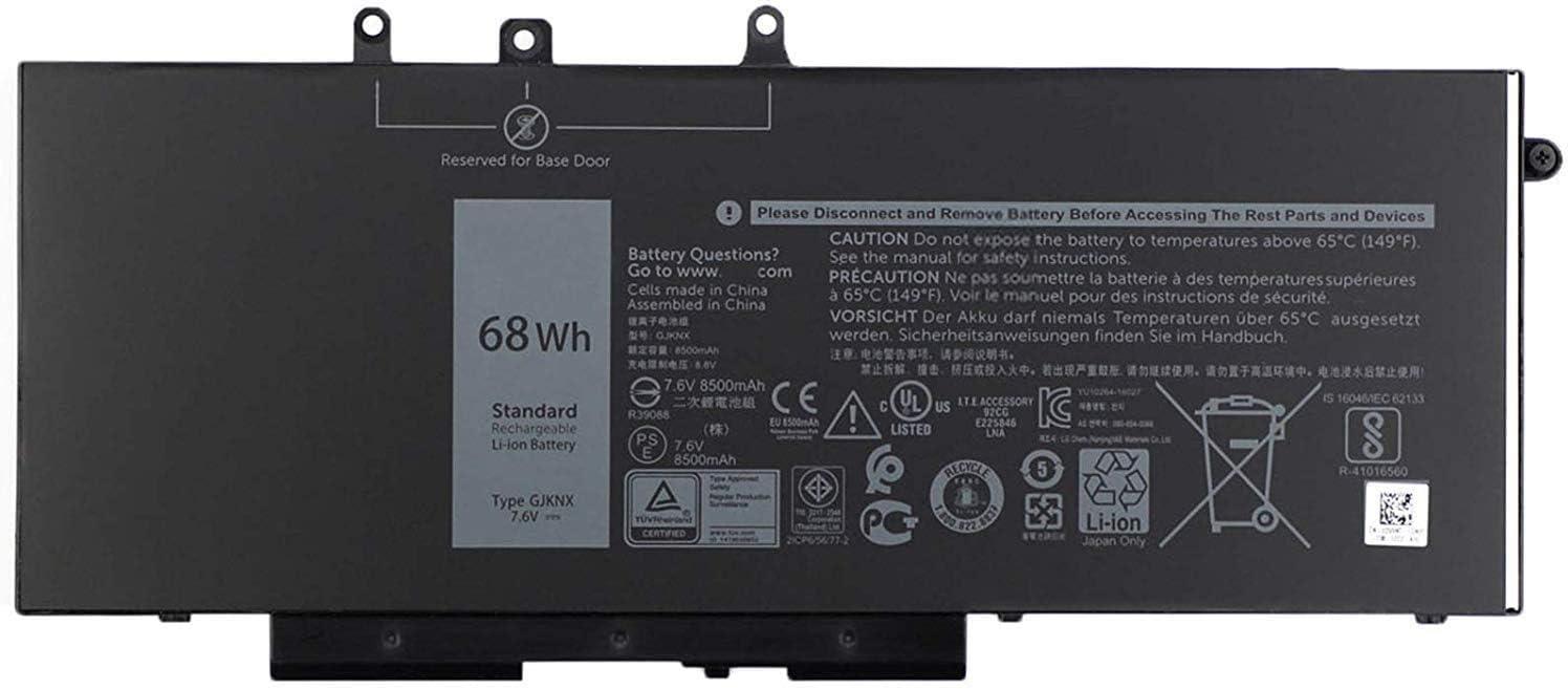 Batterymarket GJKNX Replacement Laptop Battery Compatible with Dell Precision 15 3520 Latitude E5580 E5480 E5280 E5490 E5590 Series GD1JP 0GD1JP (7.6V 68WH)