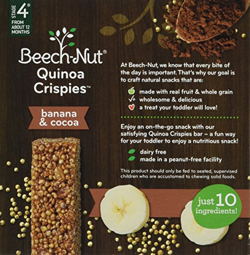 Beech-Nut Quinoa Crispies Banana & Cocoa Toddler Snack, 0.56 Ounce (Pack of 6) by Beech-Nut (Image #4)