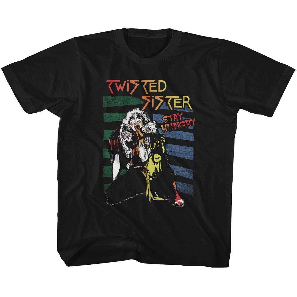 Twisted Sister American Heavy Metal Band Stay Hungry Black T Shirt Tee