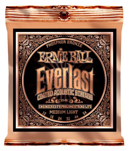 Ernie Ball Everlast Medium Light Coated Phosphor Bronze Acou