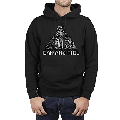 8a3724ba Amazon.com: Ruslin Long Sleeve Mens dan and Phil Amazingness Hoodie ...