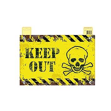 NET TOYS Letrero Halloween Keep out Cartel decoración ...
