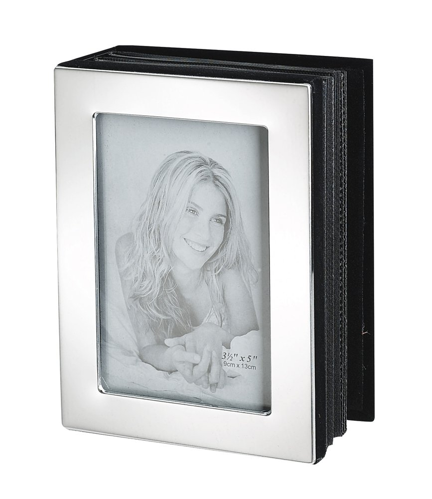 Holds 72 Photos 4 x 6 4 x 6 Upper Gifts Shiny Silver Metal Photo Album Holds 72 Photos