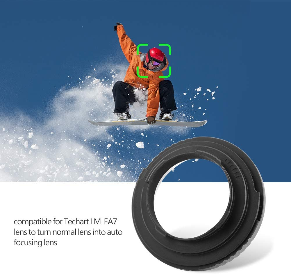 FD-LM Camera Lens Adapter Camera Lens Adapter Ring for Canon FD Monut Lens to for Leica M Camera in Plastic Compatible for Techart LM-EA7