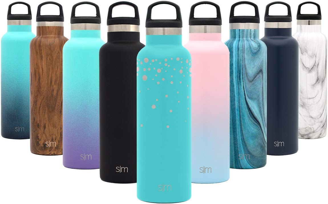 Engraved  Falling Stars 32oz Simple Modern Ascent Water Bottle  Narrow Mouth, Vacuum Insulated, Double Wall, 18 8 Stainless Steel Powder Coated