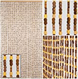 BeadedString Natural Wood and Bamboo Beaded Curtain-45 Strands-77 High-PLAIN Design-Bamboo and Wooden Doorway Beads-Boho Bohemian Curtain-35.5″ W x 77″ H-SunshineBr Review