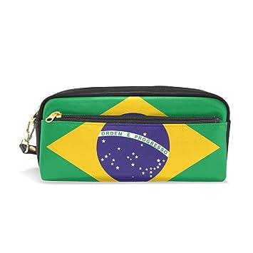 Eslifey Bandera de Brasil bolsa portátil de piel sintética ...