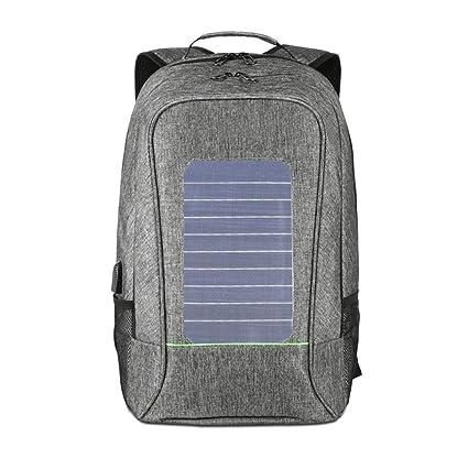 4a04a5ea4d Zaino Solare Con Built-In Pannello Solare, Caricabatteria Alimentato A  Batteria Di Backup Per