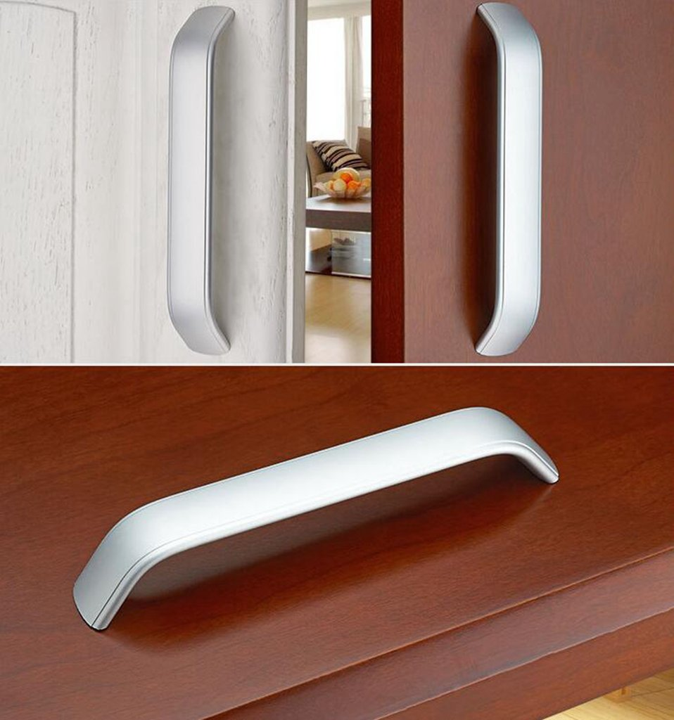 Daeou Space aluminum U-shaped drawer door handle wardrobe cabinets handle silver white furniture by Daeou (Image #4)