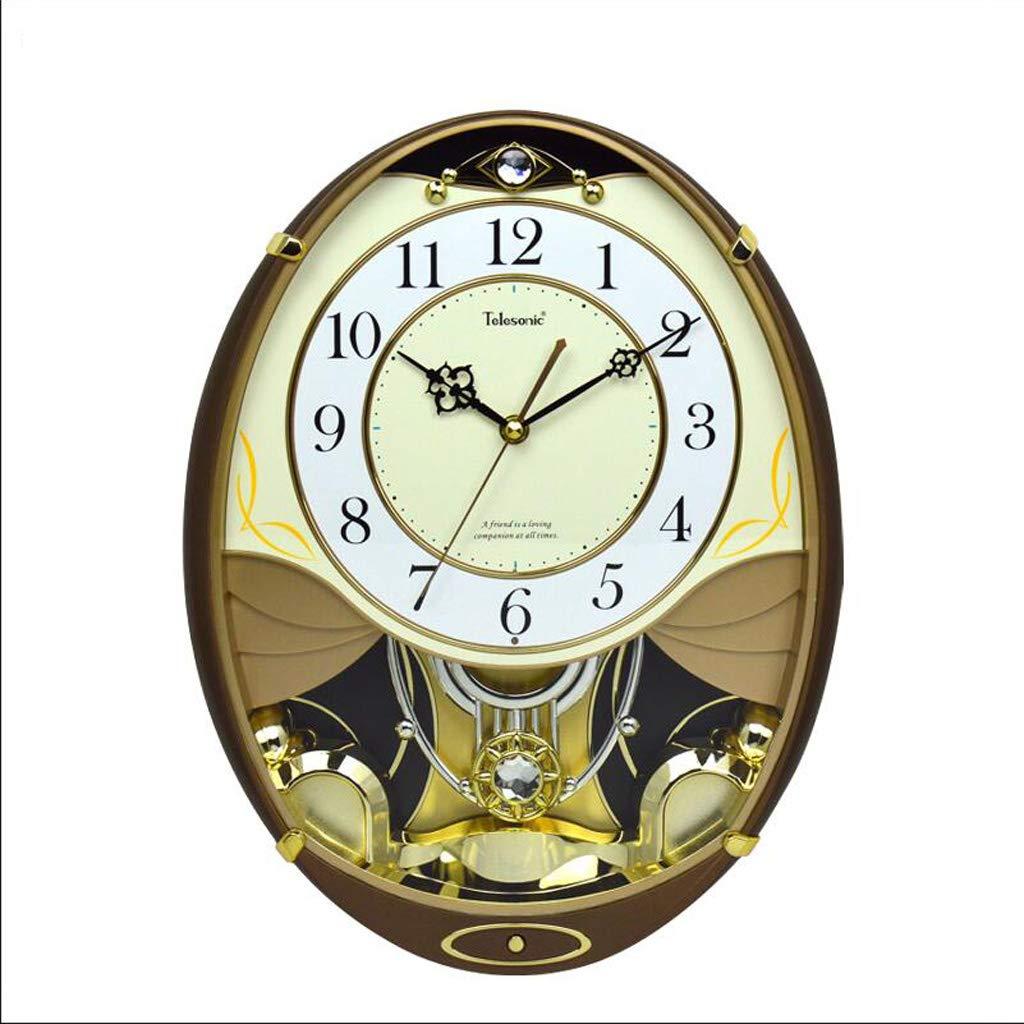 16インチのリビングルームの壁時計音楽スイングミュート時計クリエイティブクォーツクラフト時計 JSFQ B07TSZ3D23