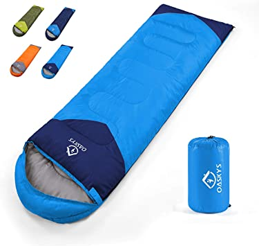 oaskys Camping Sleeping Bag - All Season Warm & Cold Weather - Summer, Spring, Fall, Winter, Lightweight, Waterproof for Adults & Kids - Camping Gear ...