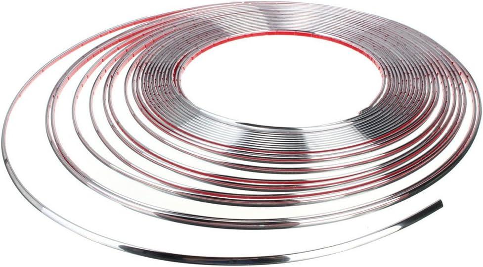 20/mm x 5/m Moulure Chrom/é lattes Chrom/é Barre autocollant en plastique flexible tuning